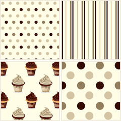 Chocolate cupcake background
