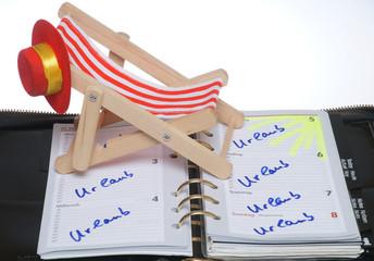 Urlaub im Kalender eingetragen