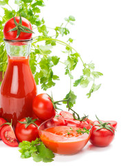 Tomatoes, juice and sauce