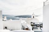 Fototapeta White architecture on Santorini island, Greece
