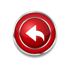 Reset Replay Circular Vector Red Web Icon Button