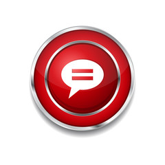 Message Circular Vector Red Web Icon Button