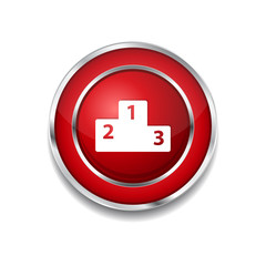 Score Board Circular Vector Red Web Icon Button