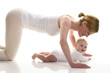 Leinwanddruck Bild - Mutter-Kind-Sport
