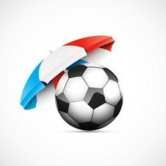 ballon de foot et drapeau français