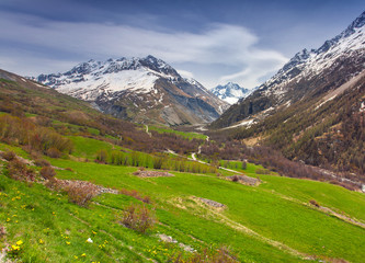 View from the Le Lautaret Pass, Ecrins, France