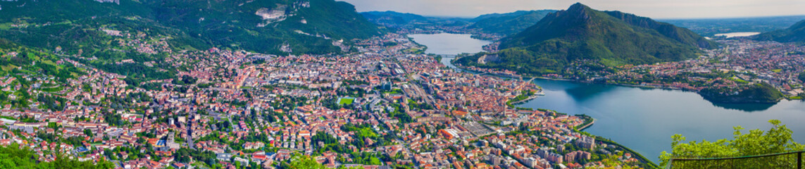 Panorama of the sity Lecco.
