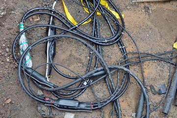 Kabelsalat Telefon Hausanschluss