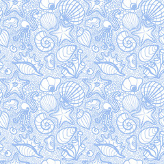 Summer sea seamless pattern.