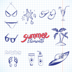 Summer elements for your design