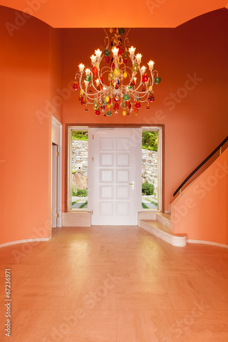 canvas print picture entry of luxury villa