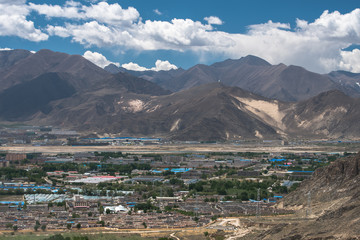 the main town in Tibet Valley