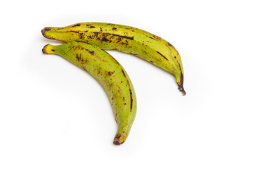 .Plantain bananas isolated  on a white background