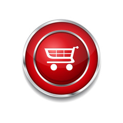 Shopping Circular Vector Red Web Icon Button