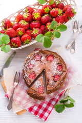 chocolate cheese cake with Strawberry