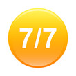 bouton internet seven by seven 7 7 icon orange
