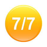 bouton internet seven by seven 7 7 icon orange