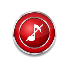 Mute Circular Vector Red Web Icon Button