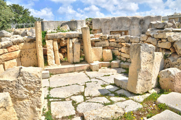 Malta, the megalithic temples of Tarxien