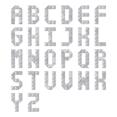 Gray triangle pattern alphabet
