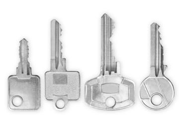 Schlüssel nebeneinander