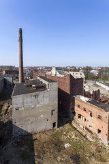 The old, destroyed and abandoned factory