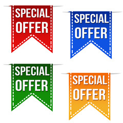 Special offer deal ribbons