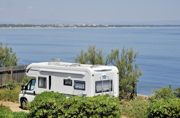 Mobil home at the seaside