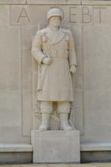 US Soldier Statue at World World Two cemetery