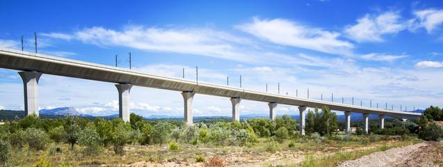 Railroad bridge for TGV in France