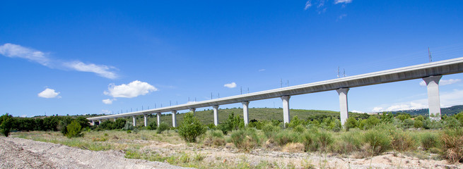 Railroad bridge for TGV in France
