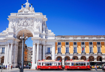 Lisbon,Portugal-May 11: Typical,Tramway on May 11, 2014