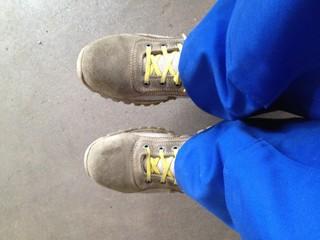 scarpe al lavoro