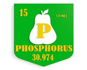 pear nutrition value description like chemistry element phosphor