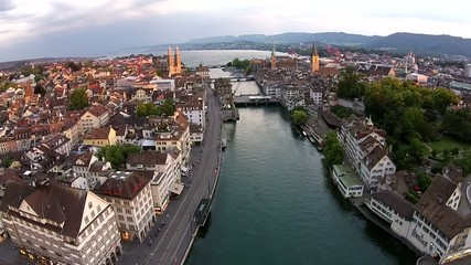 Zürich Limmat Fluss See