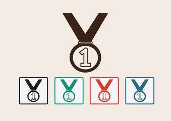 Medal icons set