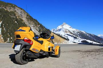 Die Can Am Spyder im Gebirge