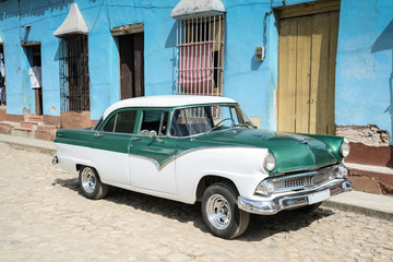 old car on street in Havana Cuba