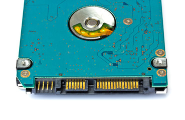 Hard disk drive HDD on white background