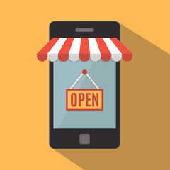 Mobile phone. Online store concept