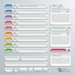 Infographics Web Banner & Label Design