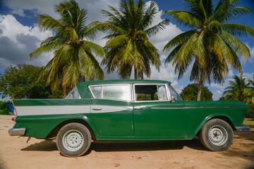 old car on street in Havana Cuba