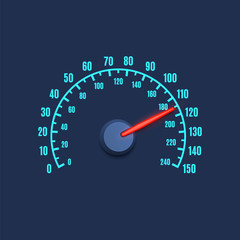 Speedometer simple icon