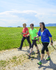 Nordic Walking in lockerer Atmosphäre
