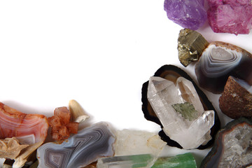 color minerals and gems background