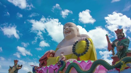 HD Time Lapse Colorful Buddha image zoom in