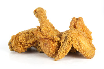 Close up Fresh fried chicken
