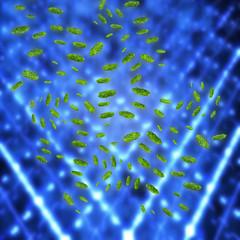 Bakterien im Labor - 3D Render