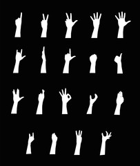 Arm vector jestures set