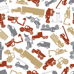 heavy machinery color seamless pattern eps10